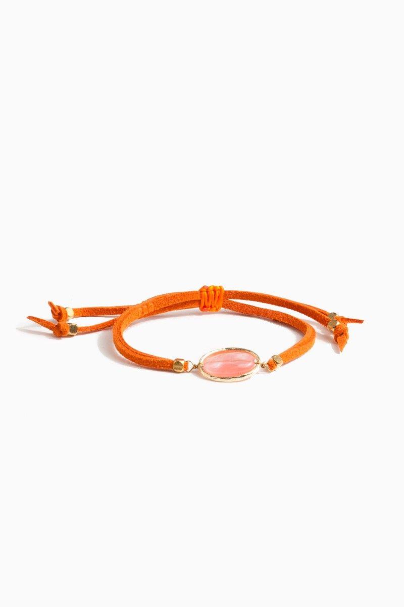 Olea Wrap Bracelet / Shop Sosie #boho #inspire #wrap #bracelet #center #stone #delicate #earthy