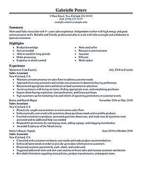 Sample Resume For Retail Associate Impressive Sales Associate Resume Is Dedicated For Those Professional Having .