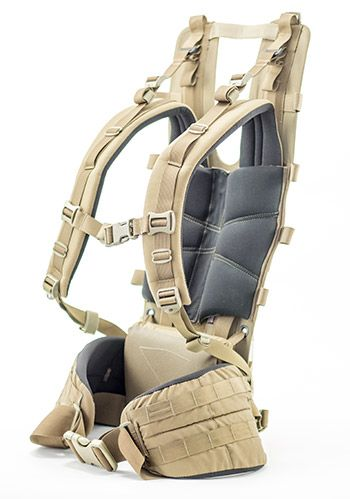 """The Hunting Frame (Get Tactical Frame if available in ALL black) is completely modular, letting you choose between pack or freighter. Shoulder Strap/Belt Color: Coyote Brown. Stay Options: Ultralight Composite Stays. Frame Length: 26"""". Belt Size: Small Duplex Belt (28""""-33""""). 3.5 oz. Debating between Mandrake and OD Green. Really like the Mandrake but knowing I'm planning on getting the Guide Lid and Cargo Panel i'm not sure which color combos i want and what would be too much color wise."""