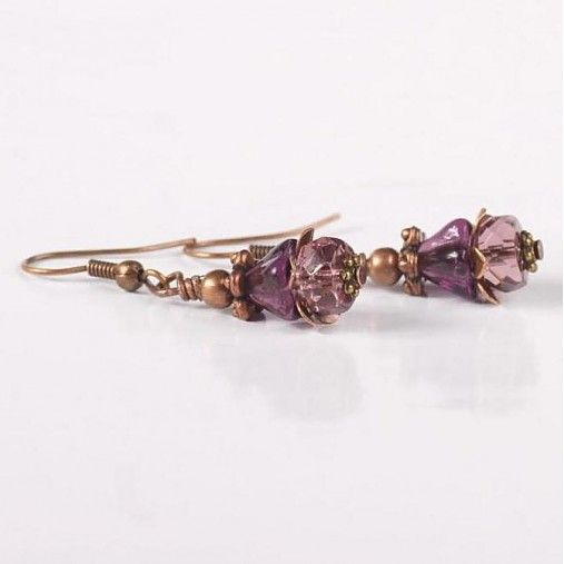 ♥MY Earrings♥Korka / Náušnice zvončekové 17