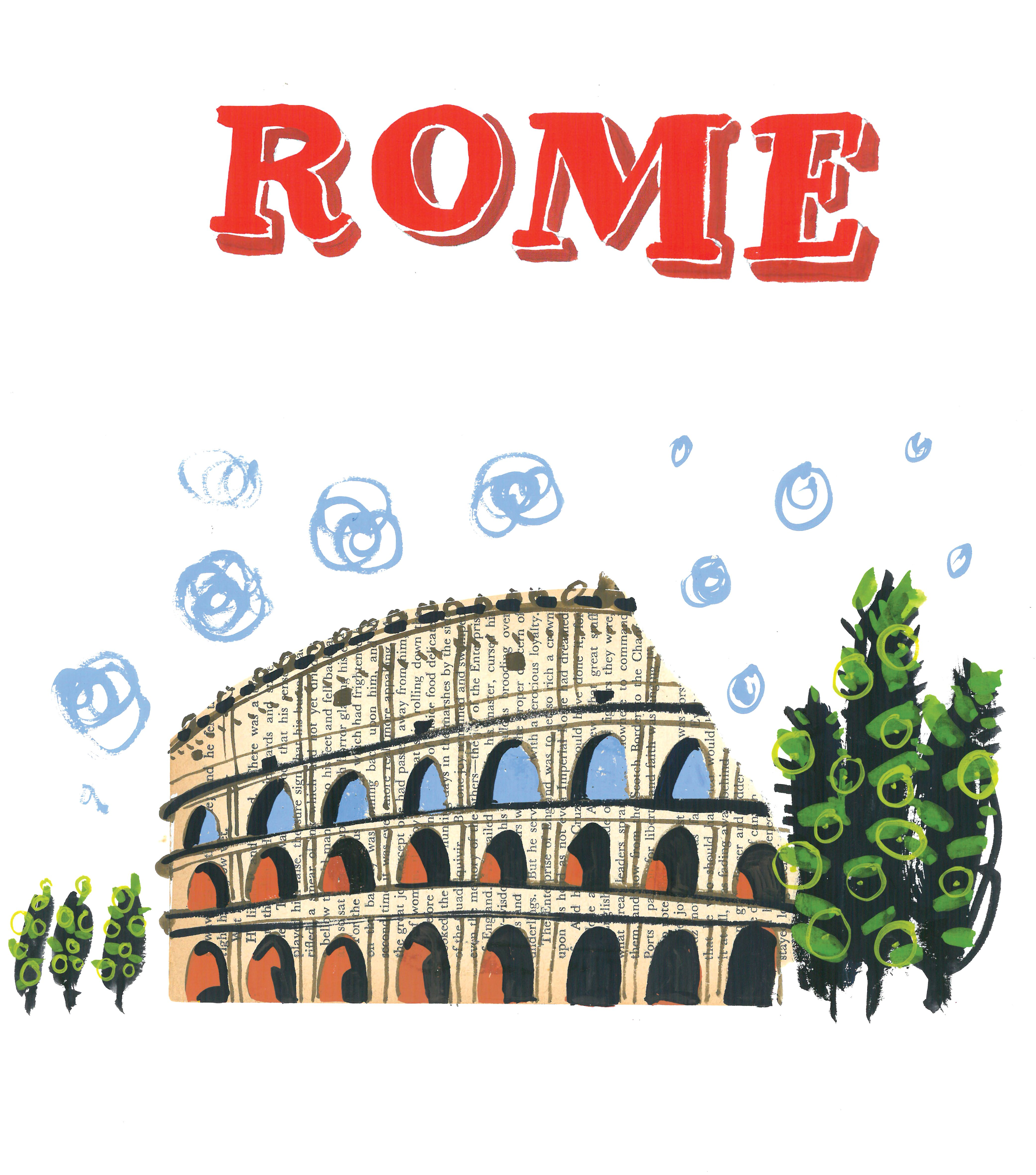 Rome illustration.
