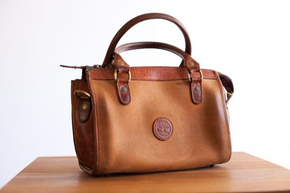 Vintage Timberland Leather Handbag By Civicthrift On Etsy