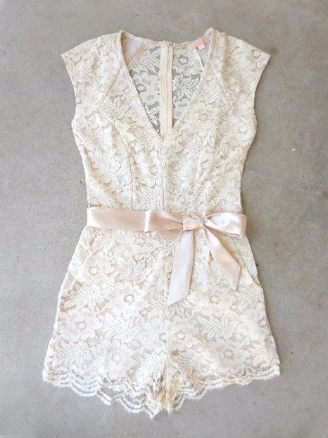 a00c4690684 Sweet Ivory Lace Romper