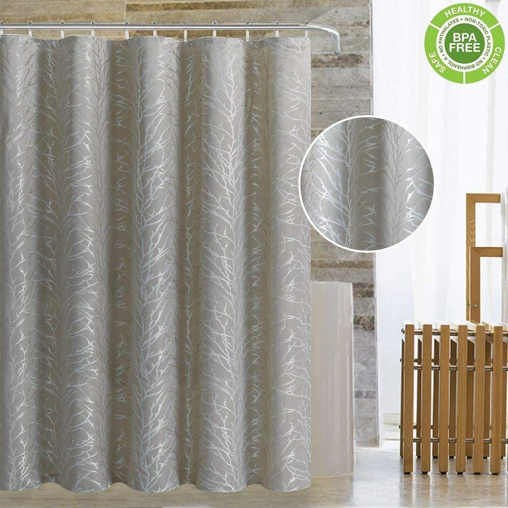 Amazon Com Magnificentex Jacquard Fabric Shower Curtain With