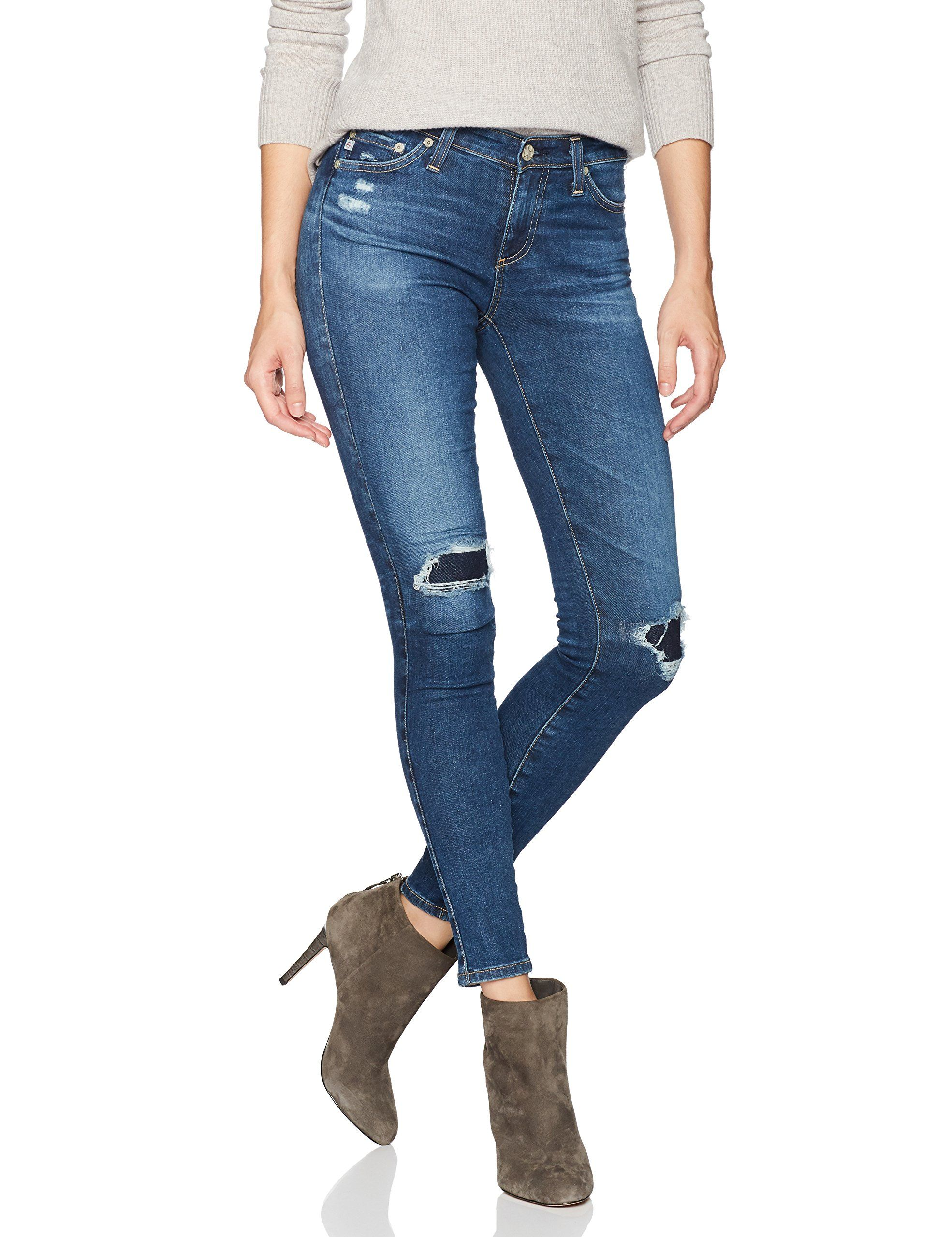 a6e020404dcc7 AG Adriano Goldschmied Womens The Legging Ankle Super Skinny Jean 13  YearsDawn Mended 27 -- You can find out more details at the link of the  image.