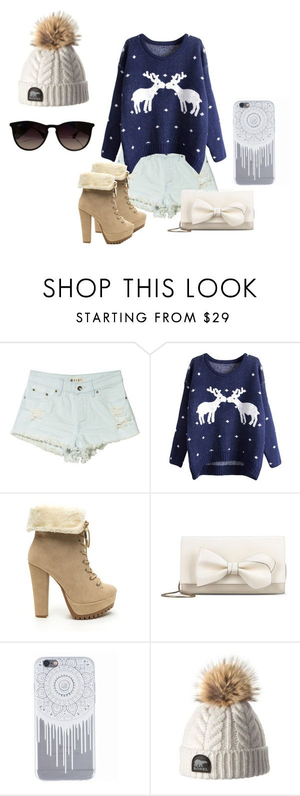 """""""Random Holiday Outfit."""" by geecat on Polyvore featuring Roxy, RED Valentino and Ray-Ban"""