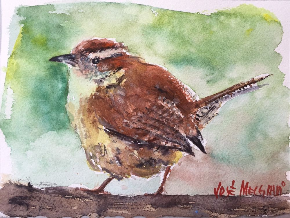 Small Bird Watercolor Original Painting 7 1 2 X 5 1 2 Small Art