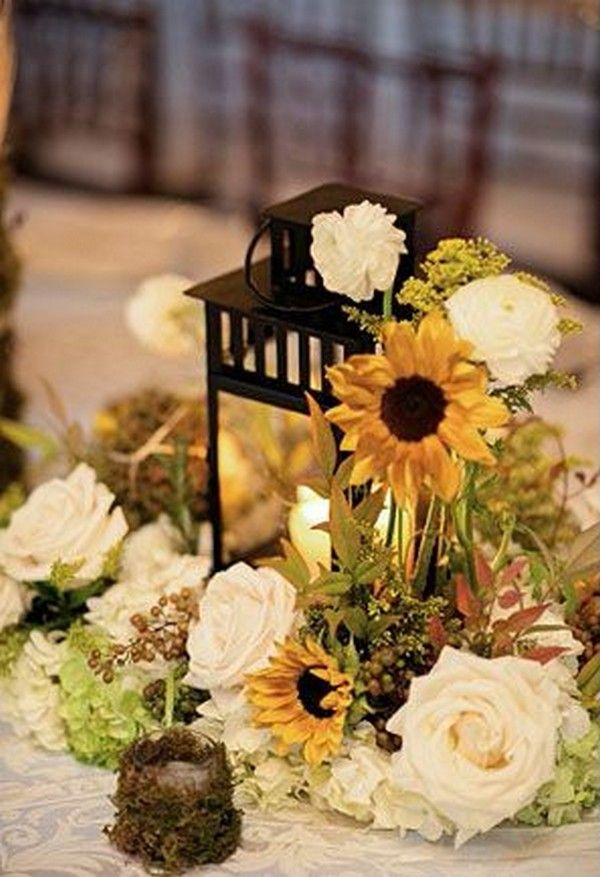 18 cheerful sunflower wedding centerpiece ideas sunflower 18 cheerful sunflower wedding centerpiece ideas sunflower centerpieces centerpieces and weddings junglespirit Image collections