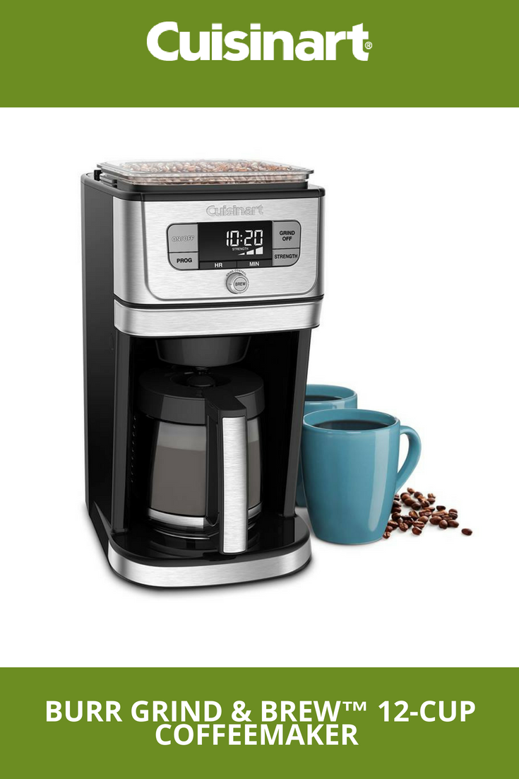 Burr Grind Brew 12 Cup Coffeemaker Coffee Maker Coffee Brewing Coffee Recipes