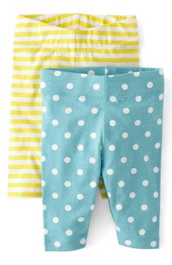 92e688c66a2b0 Mini Boden Print Leggings (Baby Girls) (Set of 2) | Nordstrom | Baby ...