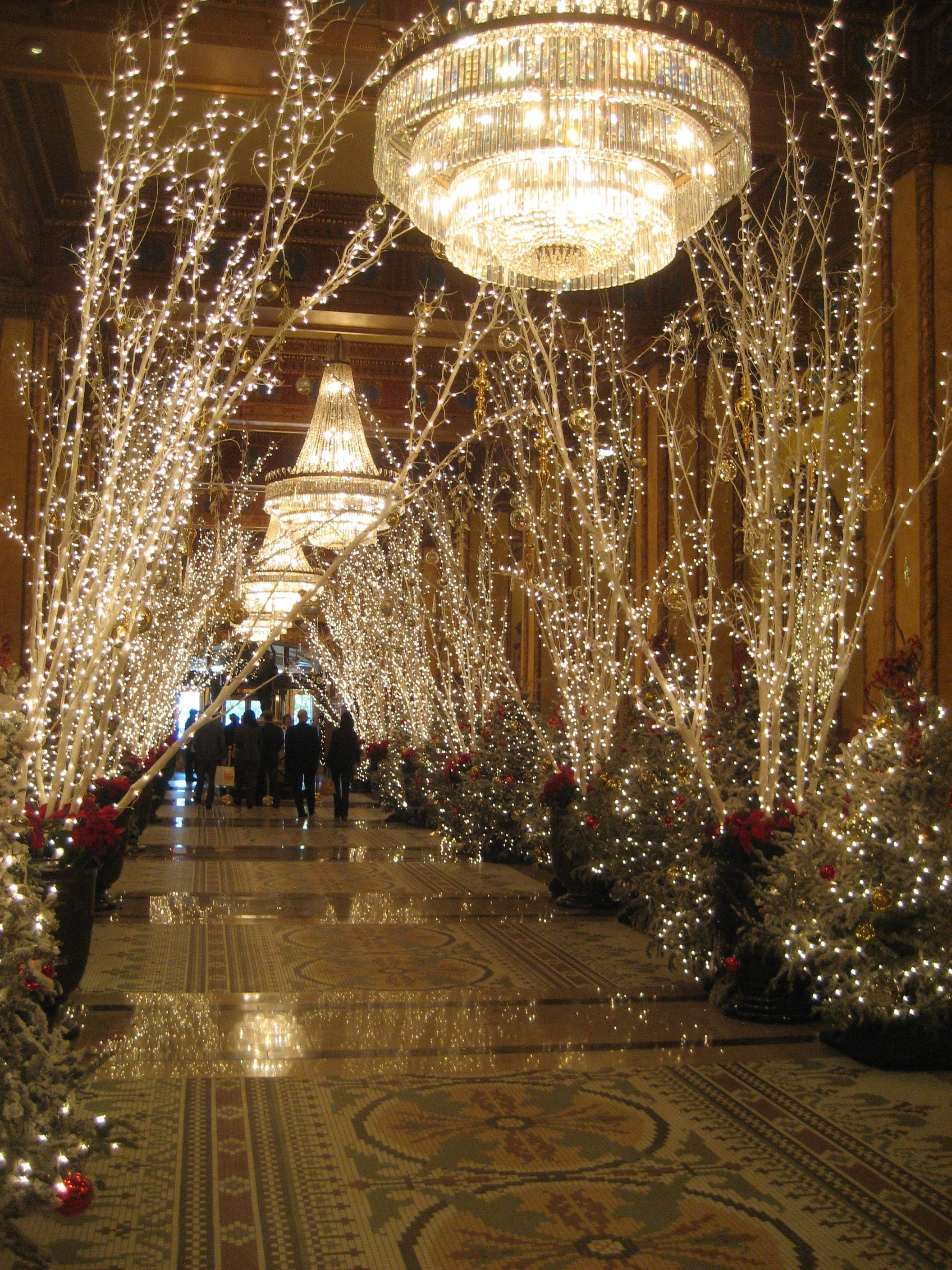 The Roosevelt Hotel New Orleans At Christmas Happy Holidays  - New Orleans Christmas Lights