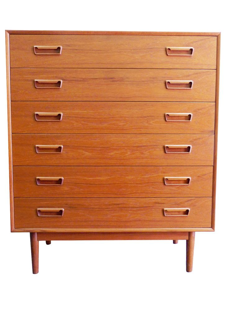 Description A Wonderful Westnofa Of Norway Teak 6 Drawer Dresser