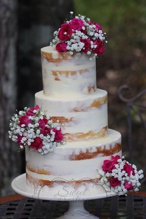 Semi Naked Cake With Fresh Flowers Cakes Cookies And Cupcakes