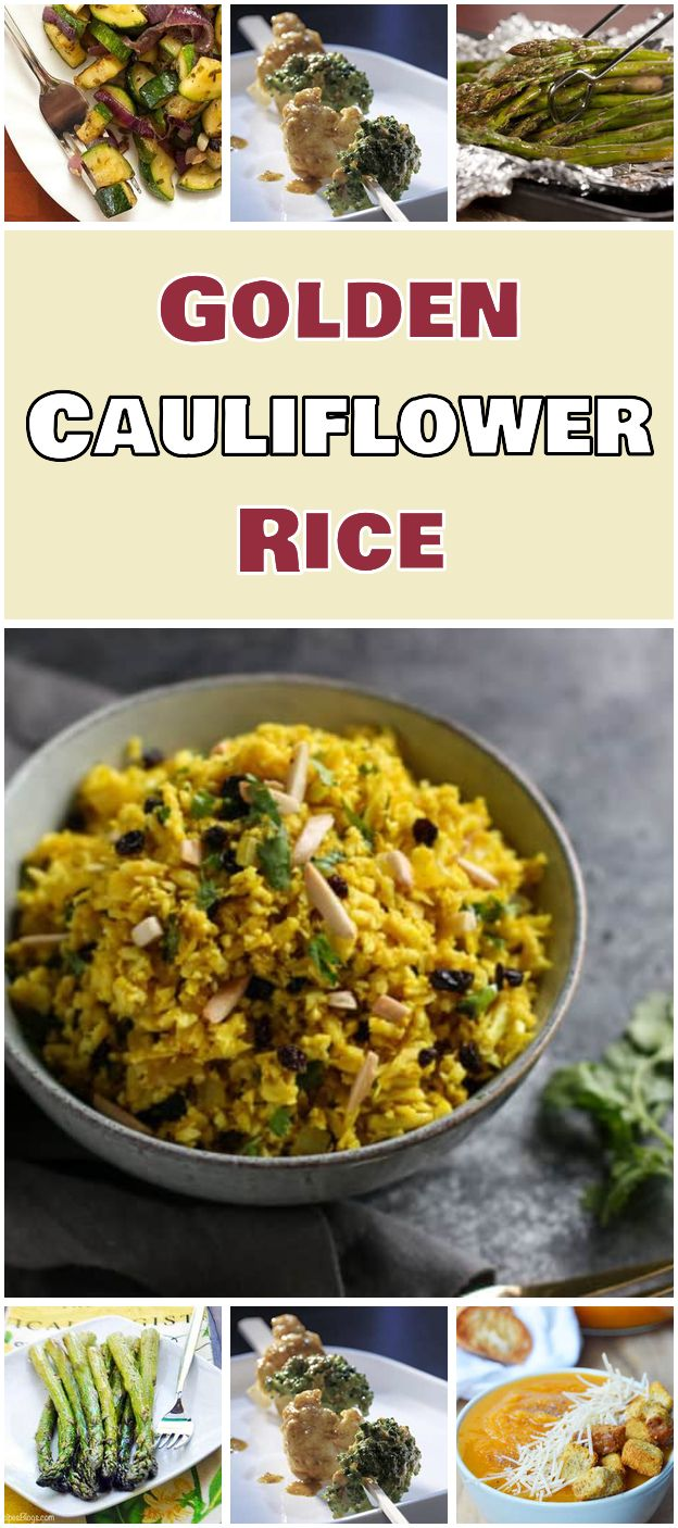 Golden Cauliflower Rice Easy Meal Plan To Lose Weight Fast