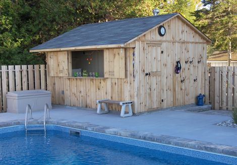 pool sheds | ... floor inside walls for pool heater etc. and ...