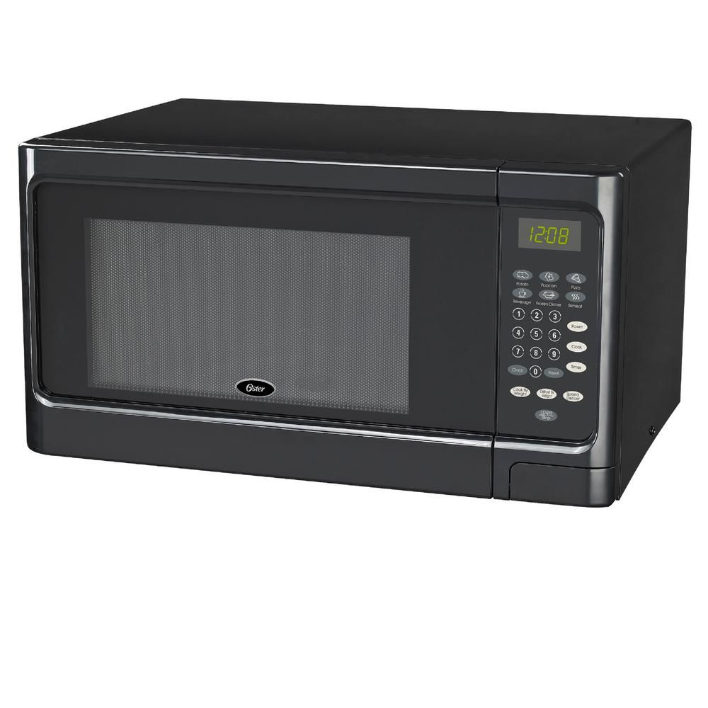 Oster 1 1 Cu Ft Countertop Microwave Black 1000 Watt With Push