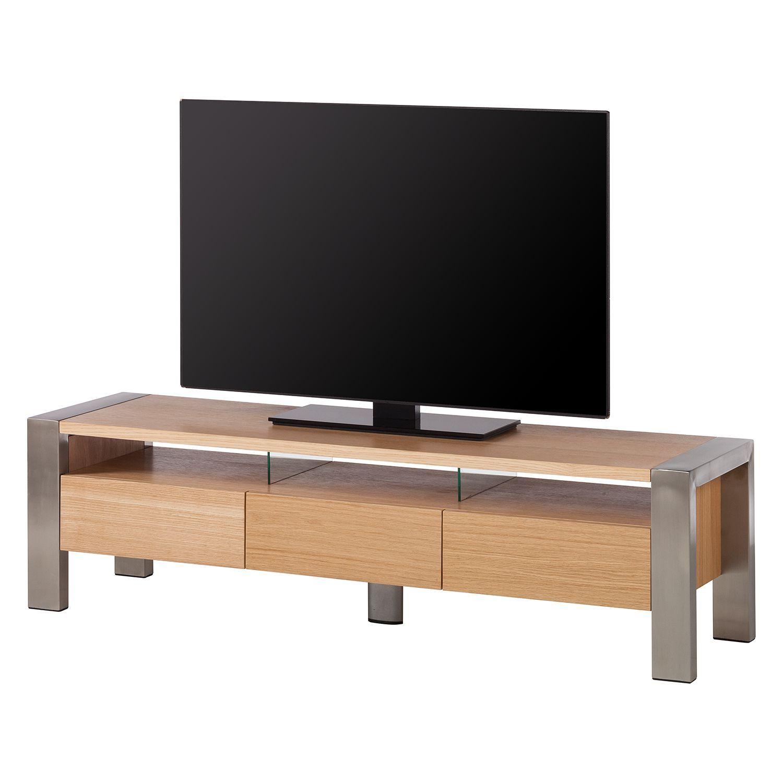 tv lowboard noah eiche edelstahl