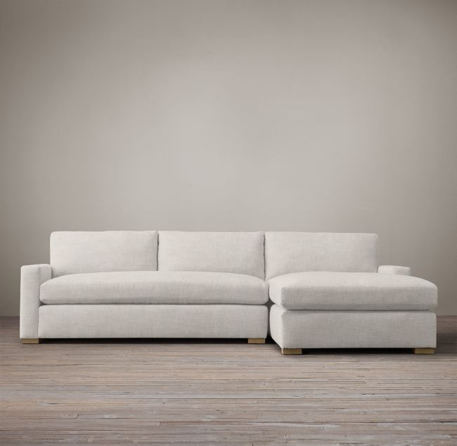 Restoration Hardware Petite Maxwell Upholstered Right Arm Chaise Sectional Sectional Small Space Sectional Upholster