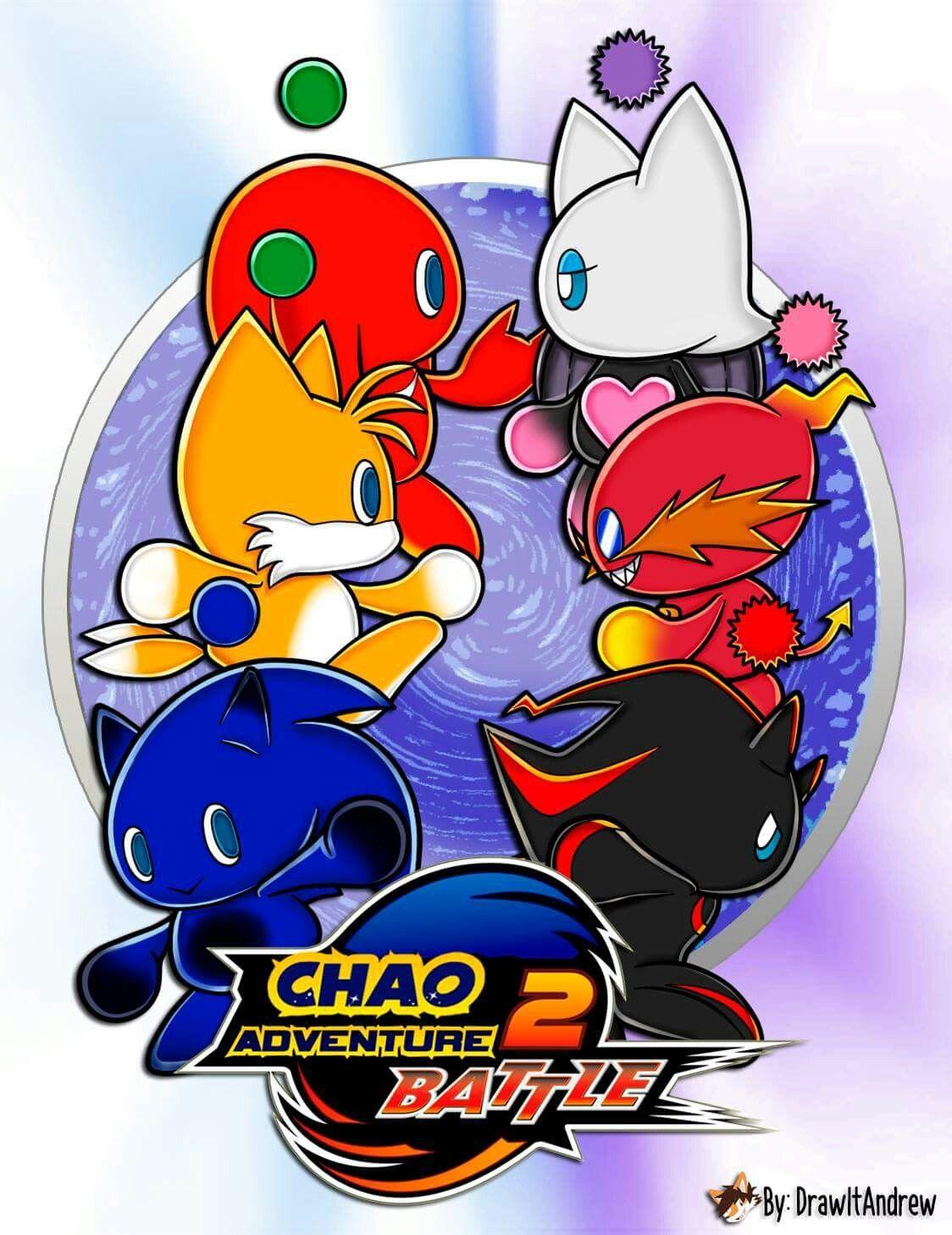 Chao Adventure 2 Battle Sonic And Shadow Hedgehog Art Sonic Fan Art