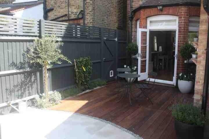 Fence colour farrow and ball down pipe garden for Garden decking colours