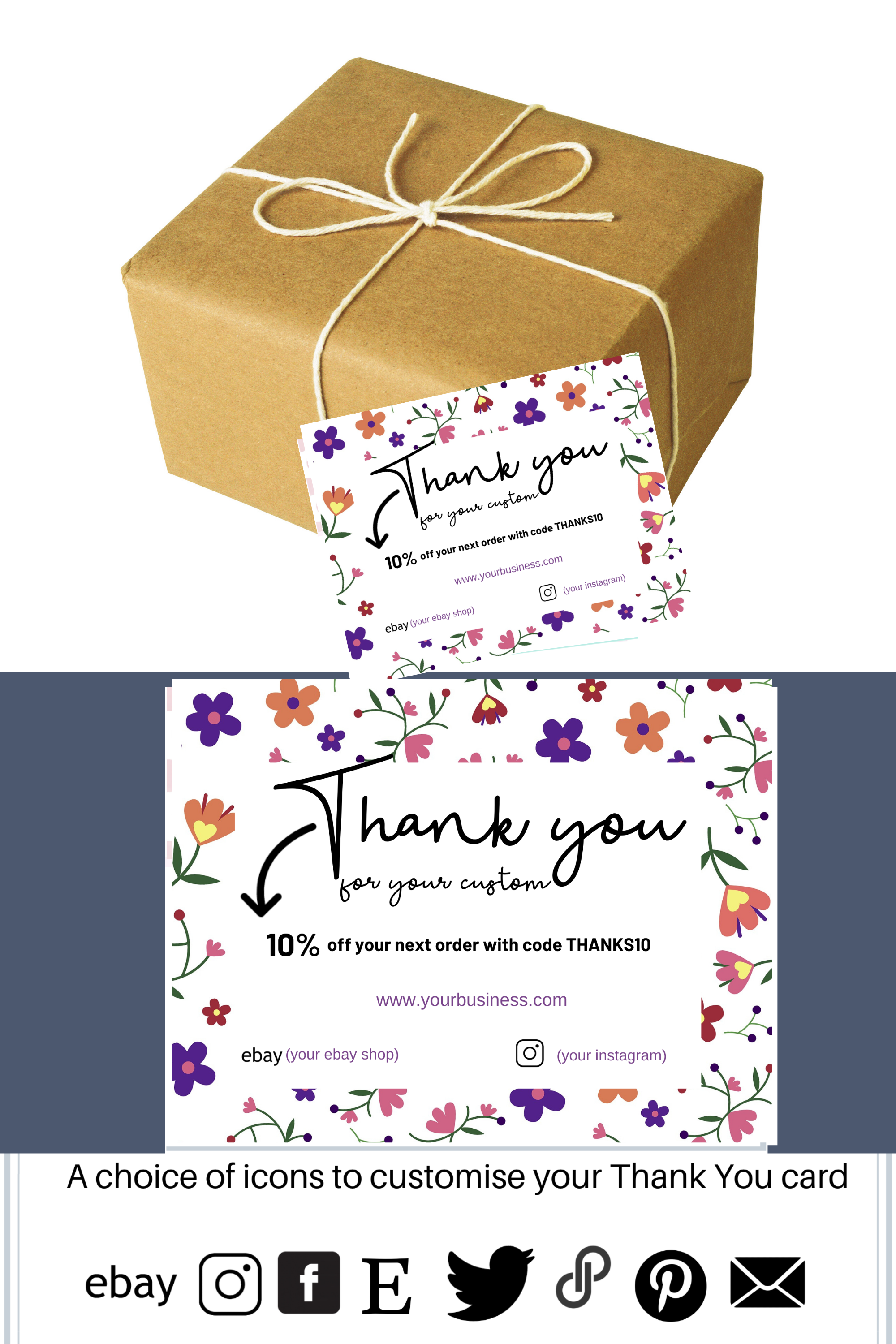 Business Thank You Card Template Editable Cards Thank You Card Template Business Thank You Cards