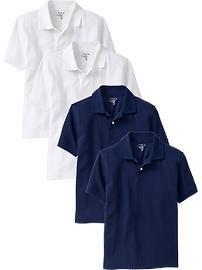 5470b0849 Boys Pique Uniform Polo 4-Packs | School Uniform Design | School ...