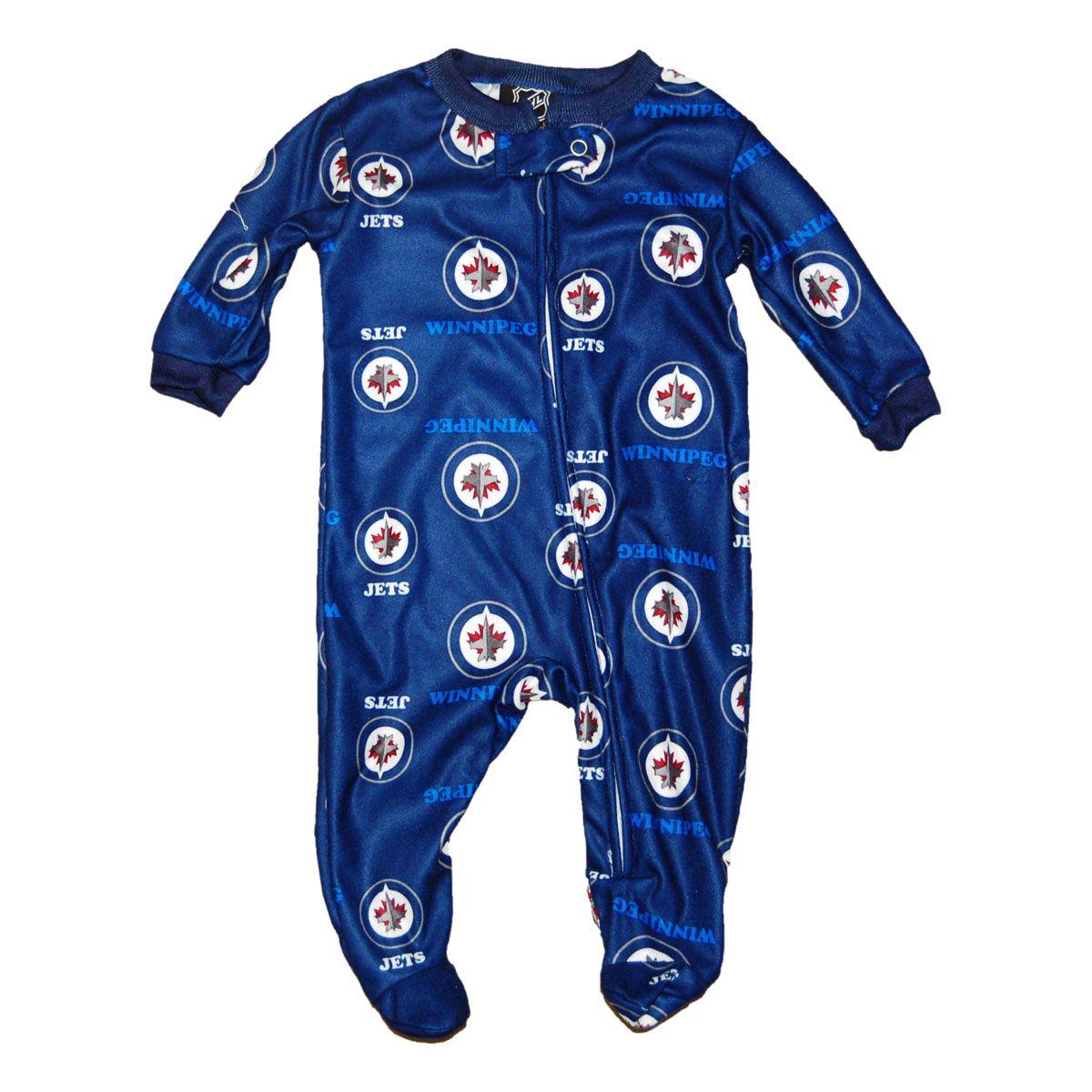 Winnipeg Jets Baby Full Zip Raglan Coverall - IceJerseys ...