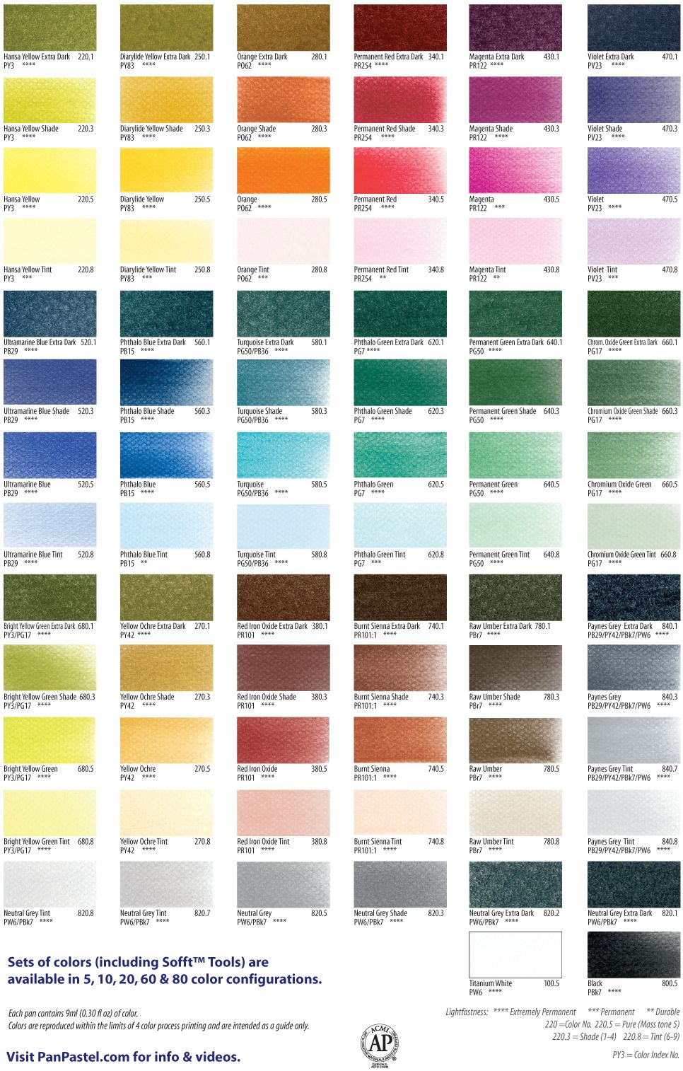 Metallic And Pearlescent Paint Pan Pastel