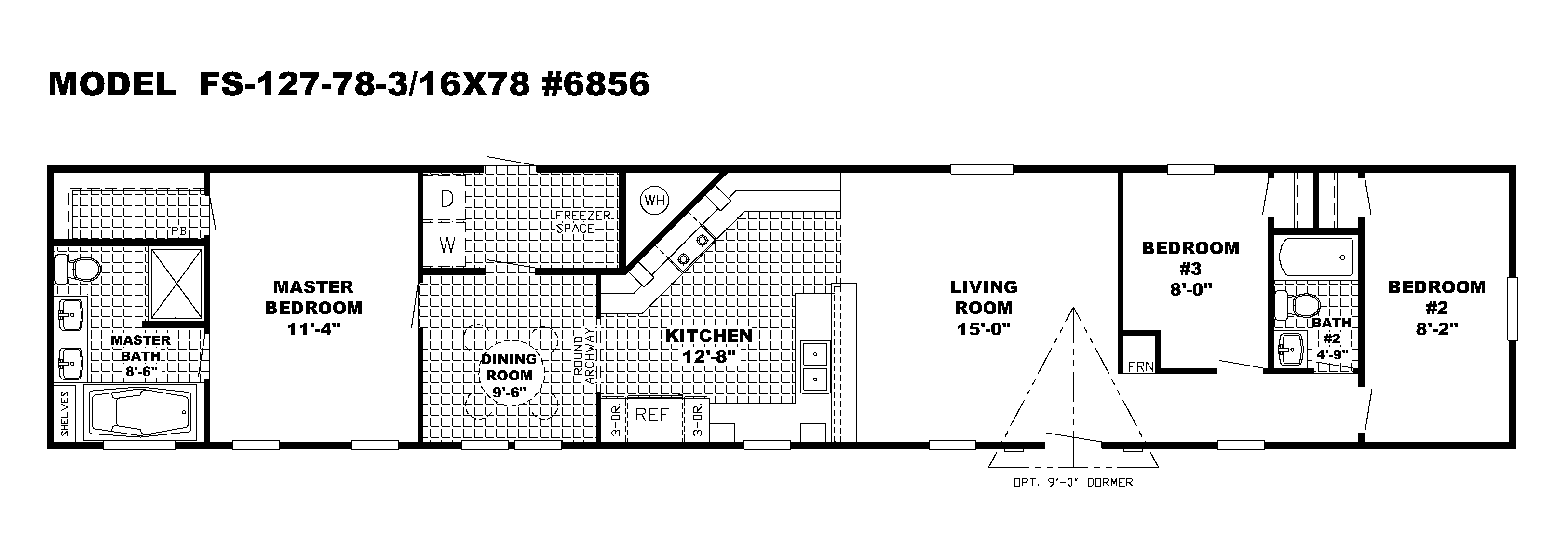 Perfect Scotbilt Mobile Home Floor Plans Singelwide | CAVCO HOMES FLOOR PLAN  1876CR 3 BEDROOM 2 BATH SINGLE WIDE.png | House | Pinterest | Single Wide,  ...