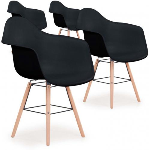 Lot De 4 Chaises Scandinaves Ralf Noir Fizz En 2020 Chaise Scandinave Meuble Deco Lot De Chaises