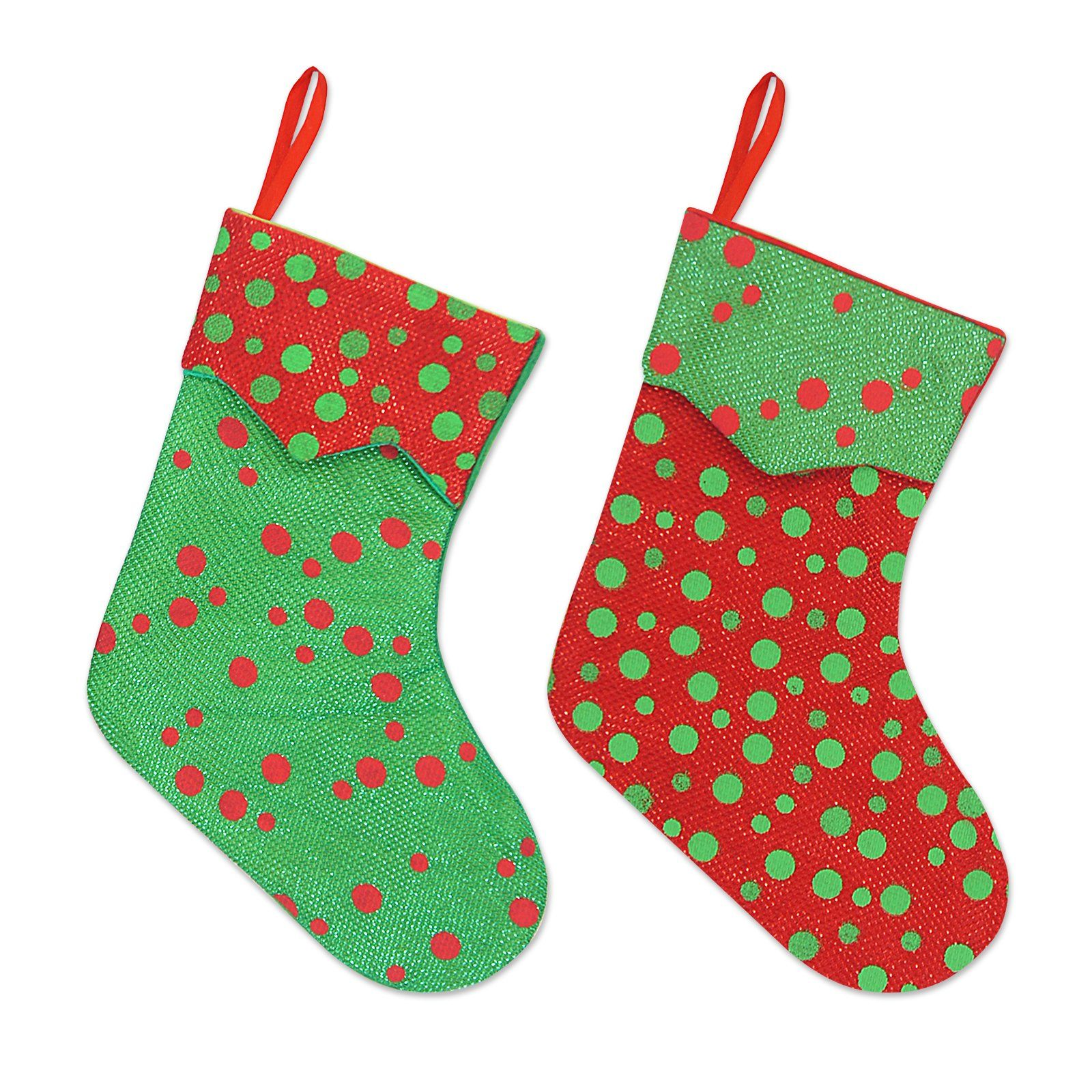 Ivenf 12 Pack 7 Glitter Round Dots Mini Christmas Stockings Gift Card Bags Holders Bul Christmas Stocking Gifts Personalised Gift Shop Mini Christmas Stockings