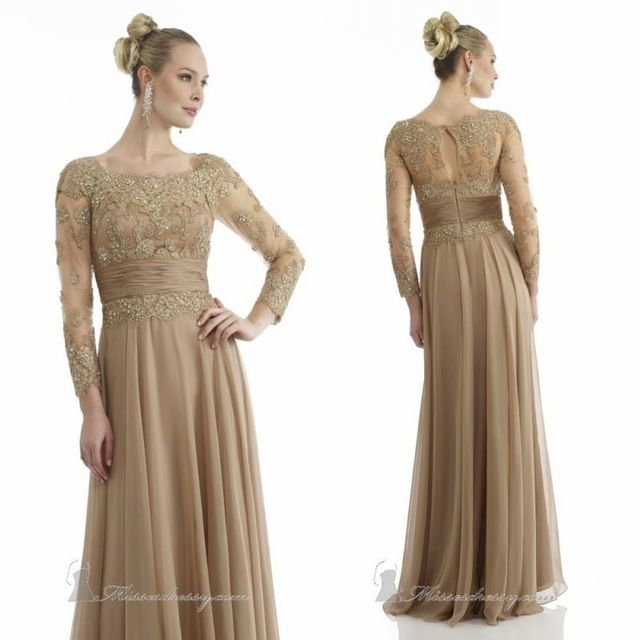 Aliexpress Buy 2015 New Gold Mother Of The Bride Dress With