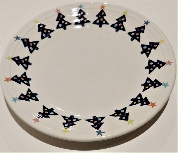 Fiesta® Dinnerware Blue Christmas Tree Dinner Plate created exclusively for May Company by Homer Laughlin & Fiesta® Dinnerware Blue Christmas Tree Dinner Plate created ...