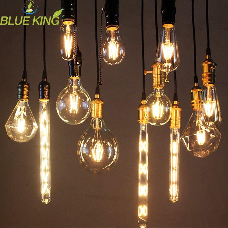 LED Edison Bulb E27 E14 ST64 A60 G45 2W 4W 6W 8W Incandescent Filament Lamps