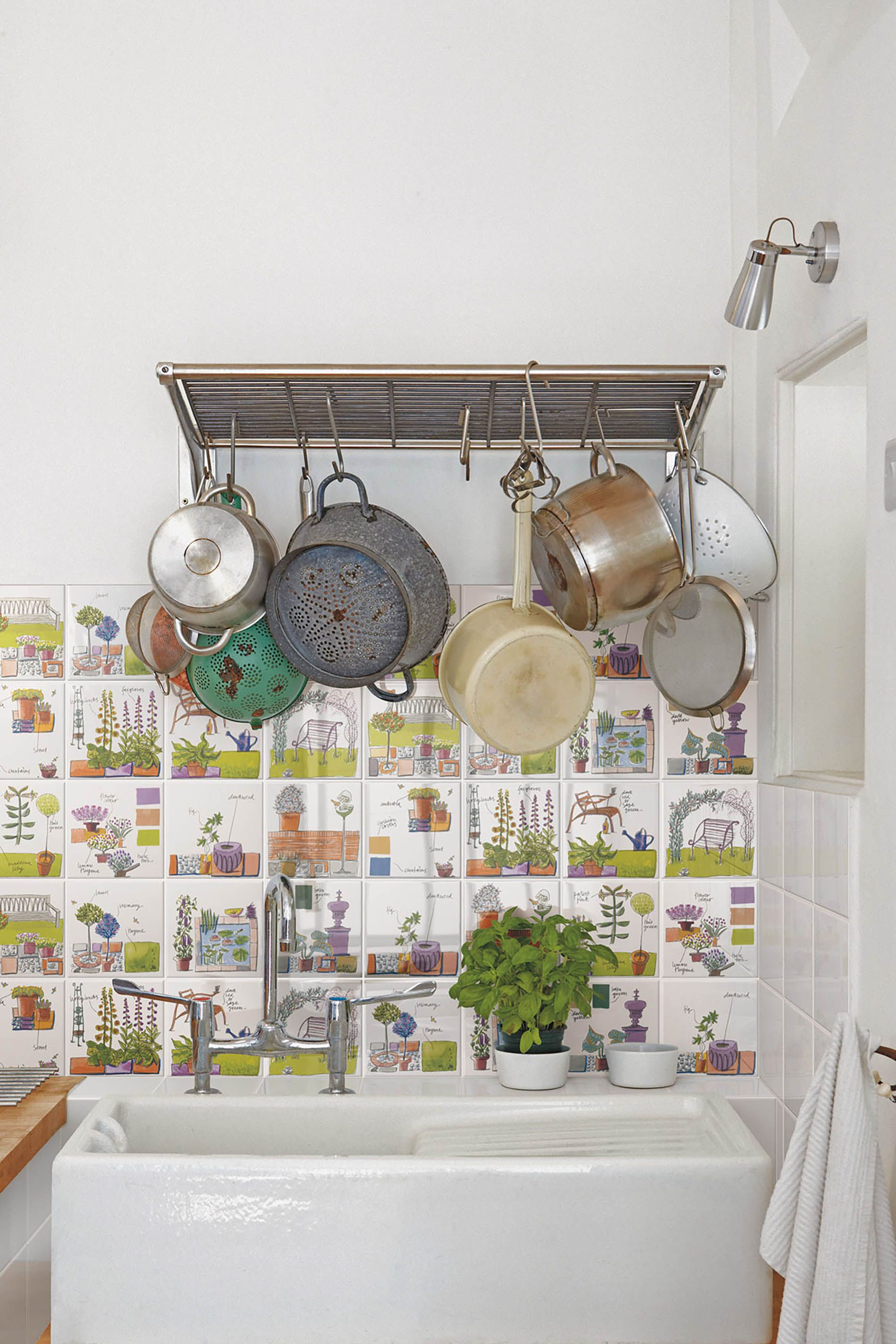 piastrelle in ceramica rivestimento bagno cucina floreale design ...