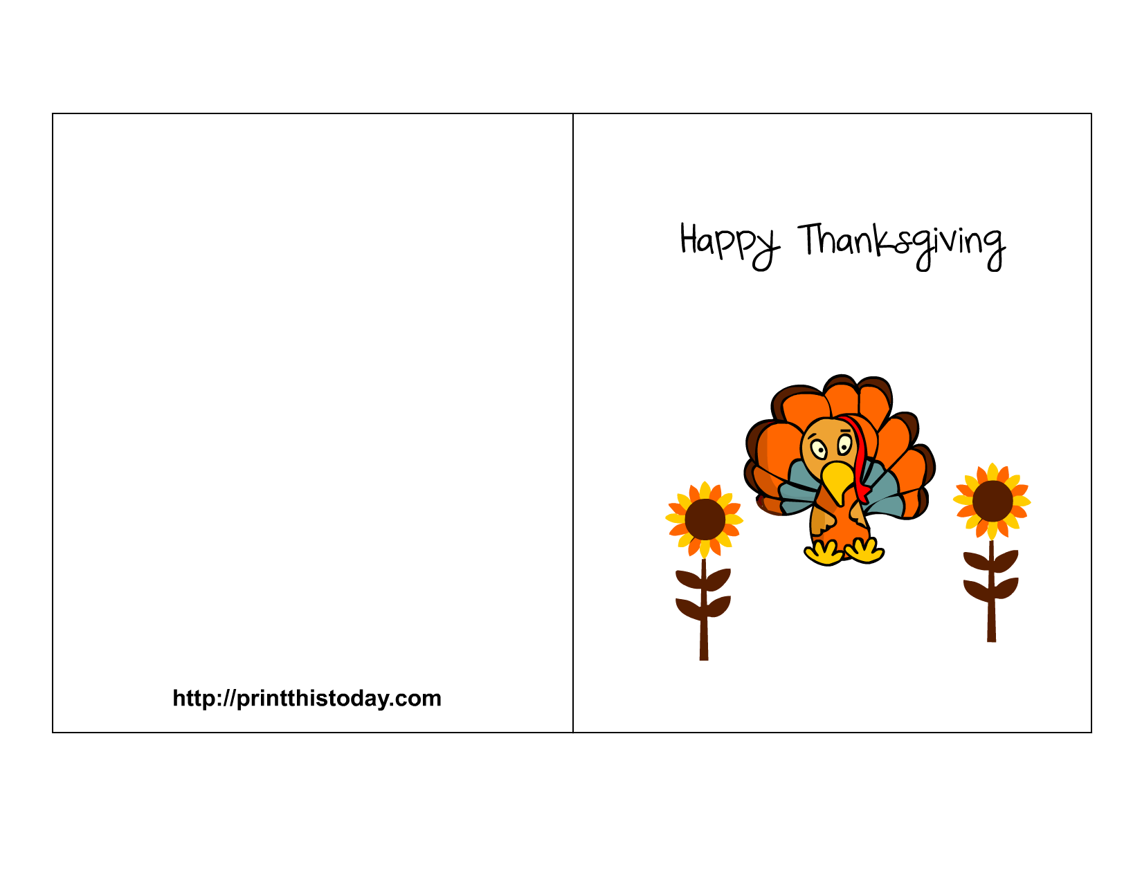 Printable Thanksgiving Card