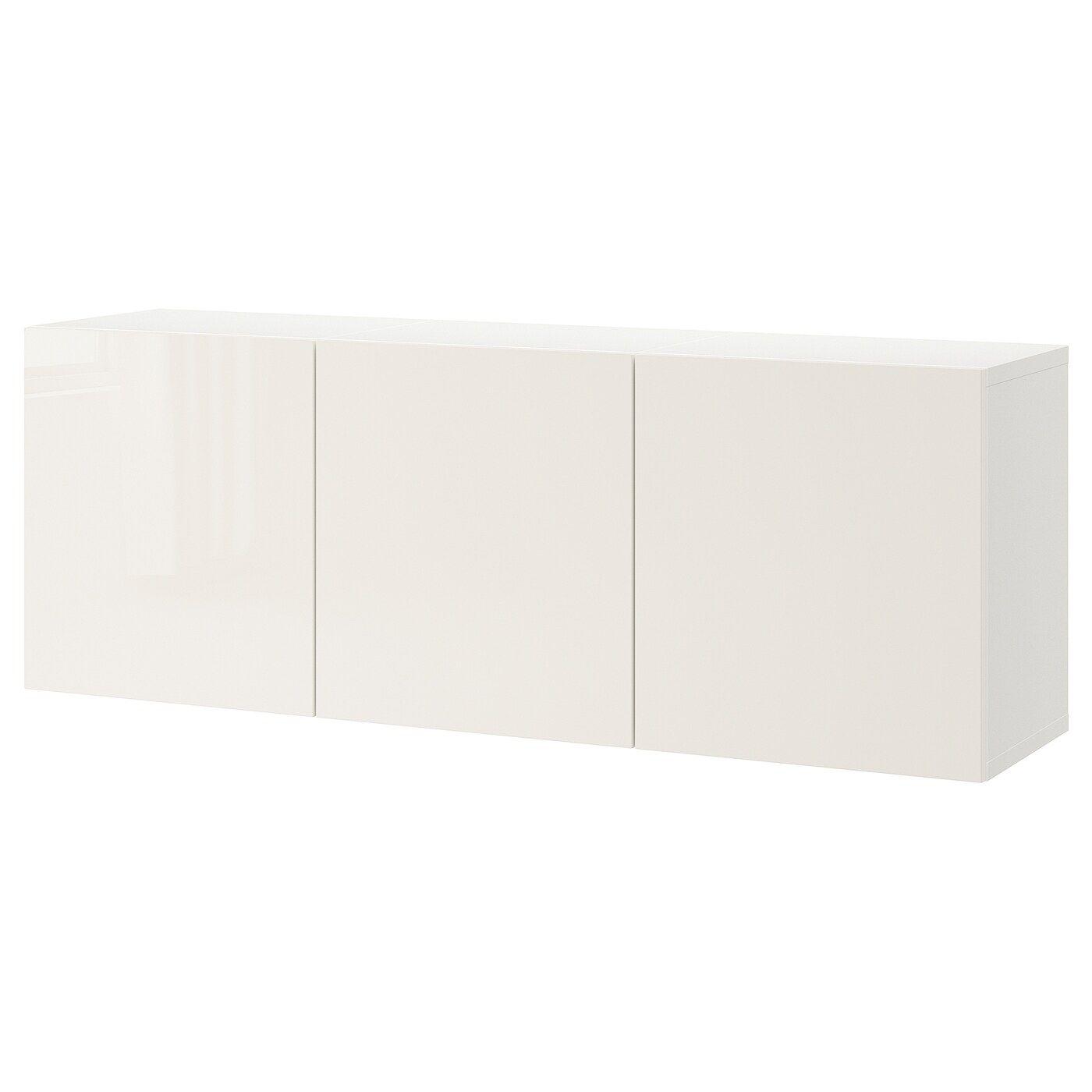 Besta Estanteria De Cubos Blanco Selsviken Alto Brillo Blanco 180x42x64 Cm Ikea In 2020 Ikea Hochglanz Schrank