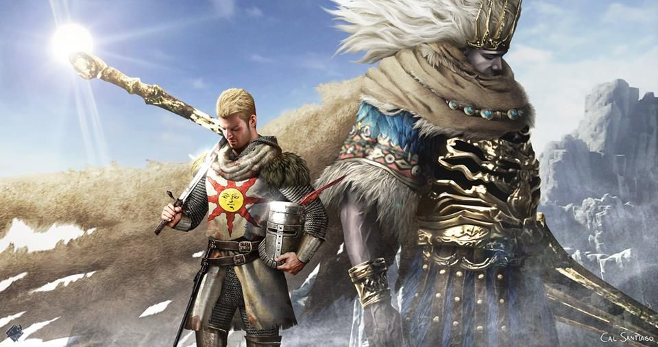 Solaire And The Tempest Bringer With Images Dark Souls Art