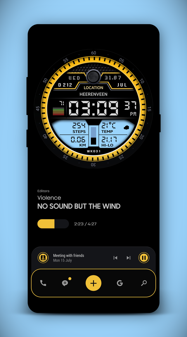"Watch Face ""Themepack v2 theme"" klwpthemes in 2020"