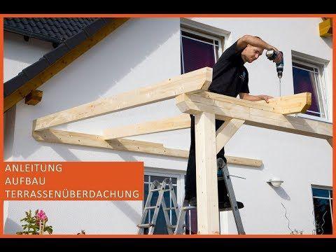 Terrassenüberdachung aus Holz Terrassendach selber bauen