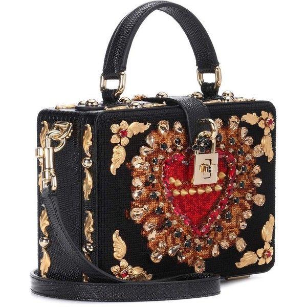 3df52e9bf2 Dolce   Gabbana Dolce Box Embellished Shoulder Bag (15.135 BRL) ❤ liked on  Polyvore featuring bags