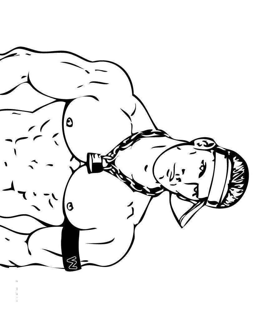Wrestlers 41 Printable Wrestling WWE Coloring Pages