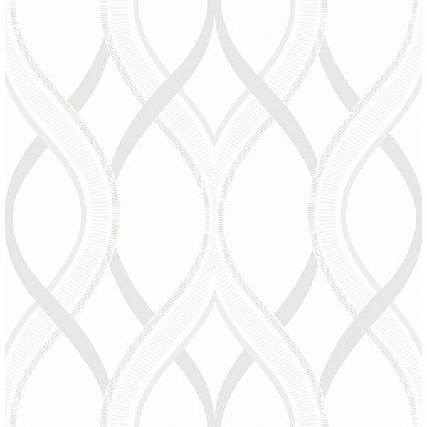 Frequency Cream Ogee Wallpaper from the Symetrie Collection by... ($84) ❤ liked on Polyvore featuring home, home decor, wallpaper, ogee wallpaper, brewster home fashions wallpaper, grasscloth wallpaper, pattern wallpaper and cream wallpaper