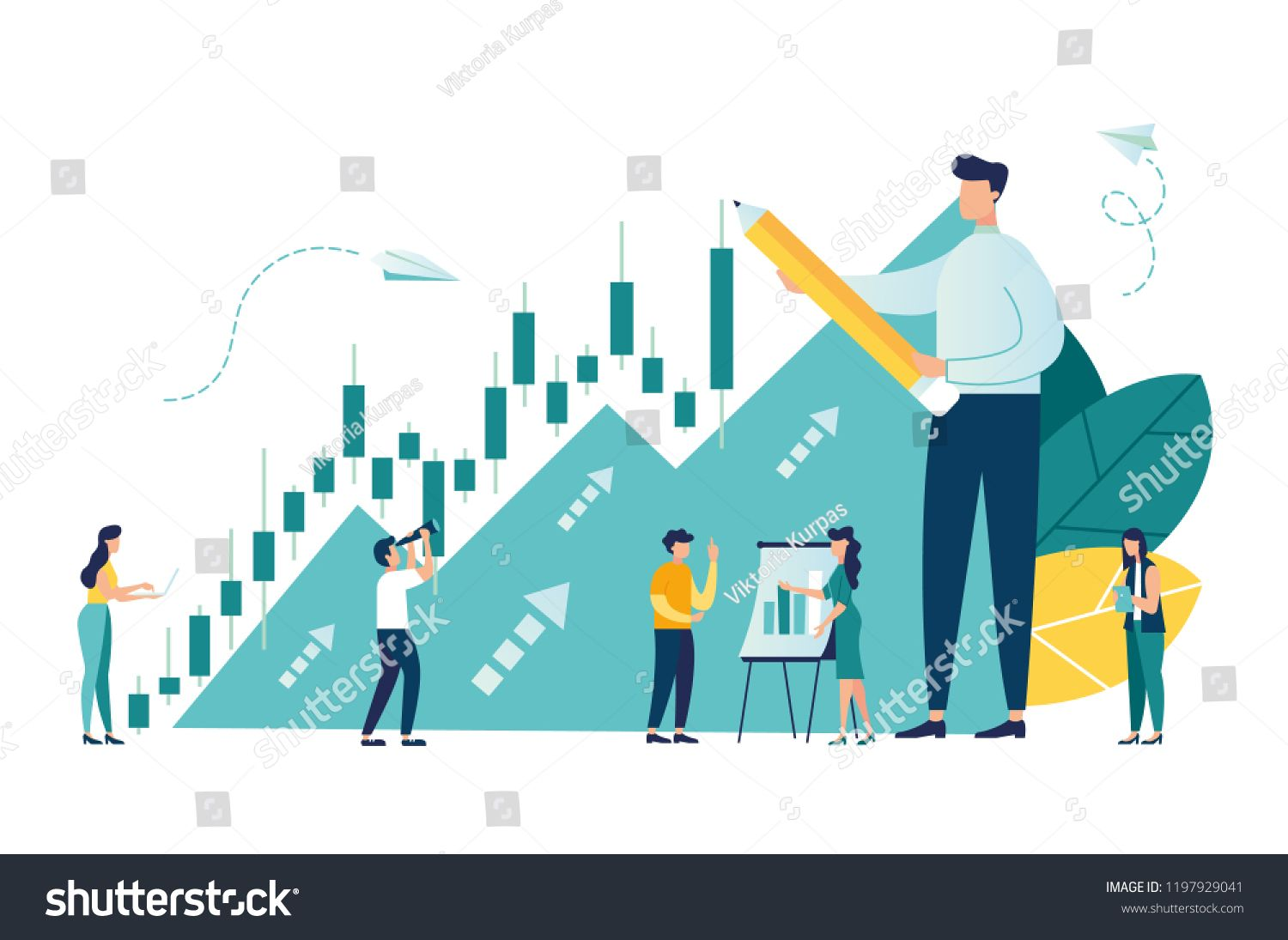 Vector Illustration Candlestick Chart Of The Stock Market Move Up Motivation The Way To Achieve The Goal Vector Illustration Candlestick Chart Illustration
