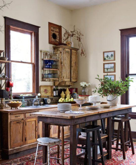 Salvaged Wood Cabinets. Almost Every Piece Of Furniture Was Made From Wood  Salvaged From The