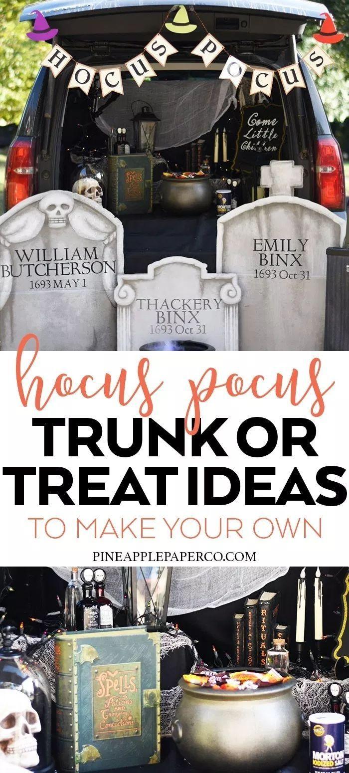 Hocus Pocus Trunk or Treat - Trunk or Treat Ideas #halloween