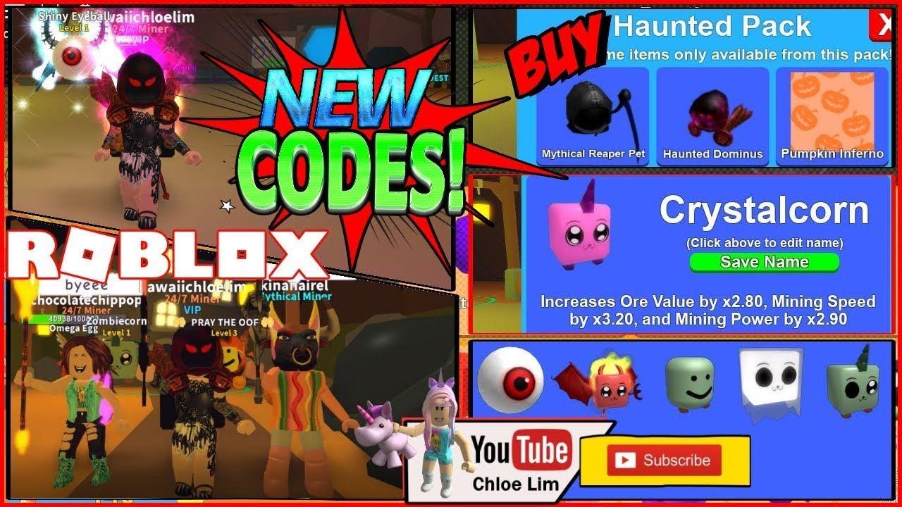 Roblox Mining Simulator Halloween Codes Crystalcorn Haunted