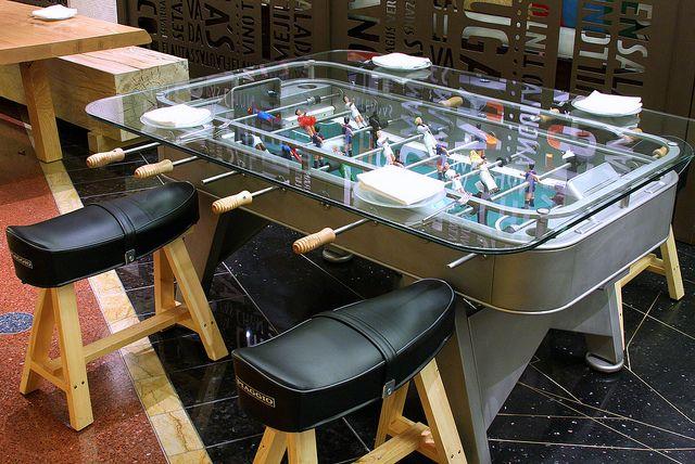 Foosball Dining Table At Jaleo Restaurant Dining Table Foosball