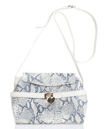 Another great find on #zulily! Beige Faux-Snakeskin Leather Crossbody Bag #zulilyfinds