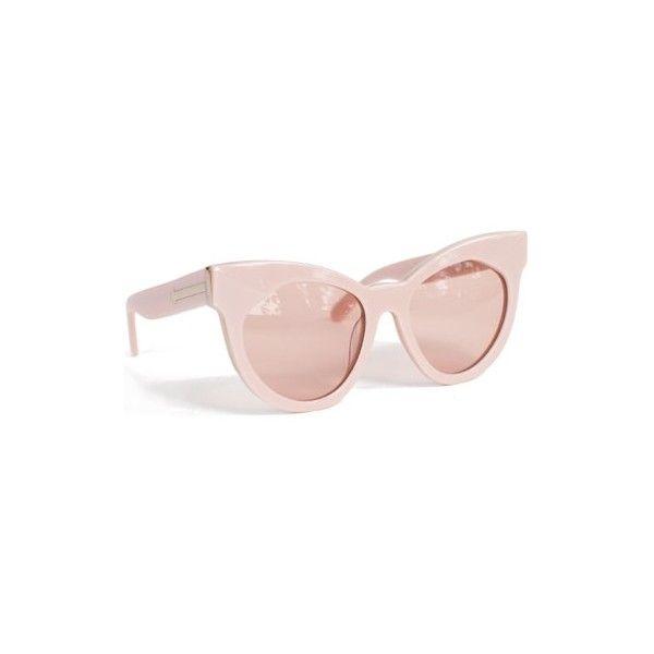 11fc3a9c855b Karen Walker Dusty Pink Starburst ($300) ❤ liked on Polyvore featuring  accessories, eyewear, sunglasses, glasses, tortoiseshell cat eye sunglasses,  ...